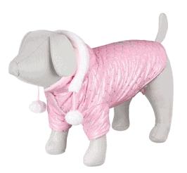 vinterhundtäcke i rosa